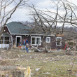 Tornado aftermath in Henryville, Indiana - Stock Photo