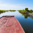 Traveling through Tonle Sap Lake - Stock Photo