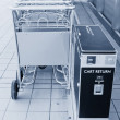Cart return — Stockfoto