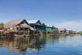 Floating fishing village — Stock Photo