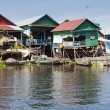 Floating fishing village - Stock Photo