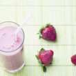 Strawberry smoothie - Stock Photo