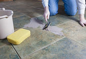 Tile Grout Repair — Stock Photo