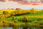 Farm landscape — Stock Photo