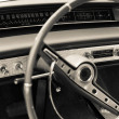 Old car dashboard — 图库照片