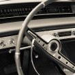 Old car dashboard - Stock Photo