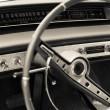 Old car dashboard — Stock Photo