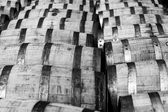 Bourbon barrels — Stock Photo