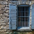 Stone building window — Stock Photo