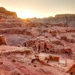 sunset at petra — Stock Photo