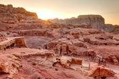 Sunset at Petra — Stock Photo