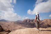 Hiking in Petra — Stock Photo