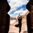 Yoga in Petra — Stock Photo