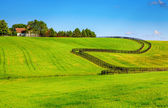 Horse farm fences — 图库照片