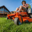 Stock Photo: Riding lawnmower
