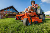 Riding lawnmower — Stock Photo