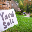 Yard sale — Stock Photo