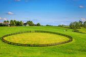 Horse farm fences — Stock Photo