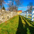 Stock Photo: Two fences