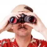 Looking through binoculars — Stock Photo #35890899