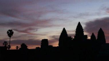 Angkor wat gündoğumu — Stok video