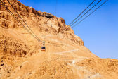 Masada cable car — Stock Photo