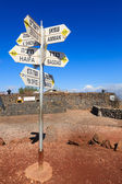 Sign on Mount Bental — Stockfoto