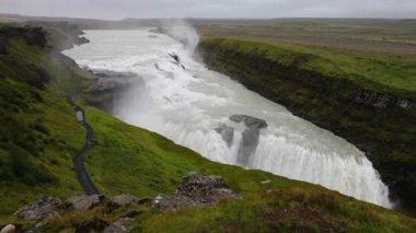 Gullfoss Falls in Iceland — Stockvideo