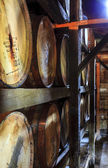 Bourbon barrels — Stockfoto