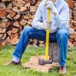 Man with an axe — Stock Photo #45133873
