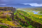 Thingvellir National Park rift valley — Stock Photo