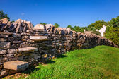 Stone fence — Stock Photo