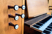 Church organ keyboard — Stock Photo