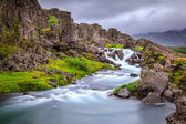 Waterfall in Thingvellir National Park, Iceland — Stock fotografie