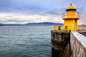 Reykjavik harbor lighthouse — Stock Photo