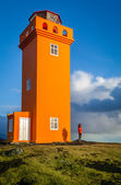Orange lighthouse — Stock Photo