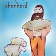 Shepherd saving his lost sheep — Stock Photo #27525175