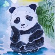 Sitting panda — Stock Photo
