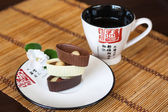 Asian tea and sweets — Foto Stock