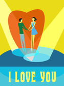 Couple in love — Wektor stockowy