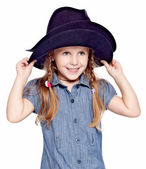 Cowgirl kid — Stock Photo
