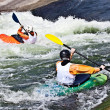 Two active kayakers — Stock Photo
