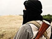 Muslim rebel — Stock Photo