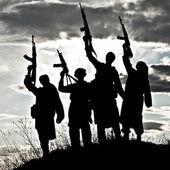 Muslim militants — Stock Photo