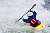 Active female kayaker — Stock Photo