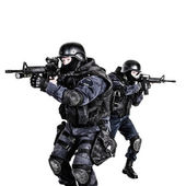 SWAT team in action — Stock Photo