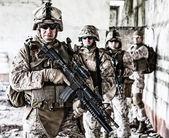Squad of marines — Stock Photo