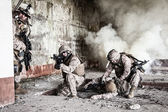US marines in action — Stock Photo