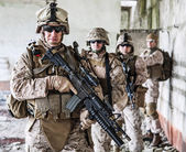 Squad of marines — Stock Photo