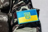 乌克兰军事雪佛龙公司 — 图库照片